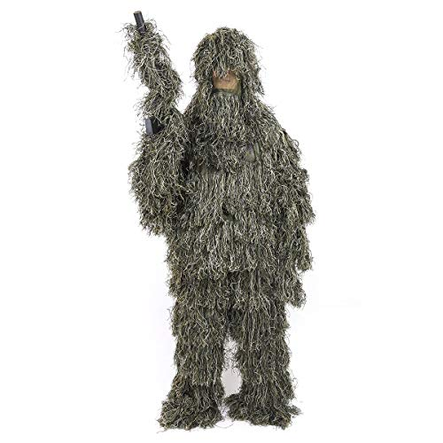 culpeo Ghillie Suit - Woodland Camouflage Ghillie Suit for Outdoor Sport - Camouflage Hunting Suit for Men, Hunters, Military, Sniper Airsoft and Paintball