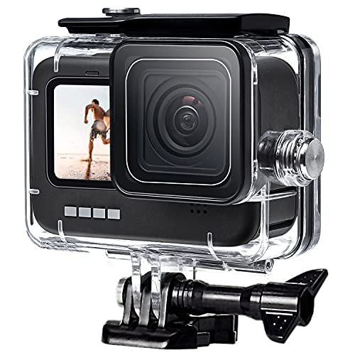 FitStill 60M wasserdichtes Gehäuse für GoPro HERO10 / HERO9 Black, schützende Unterwasser-Tauchgehäuseschale mit Halterungszubehör für Go Pro Hero 10/9 Action-Kamera
