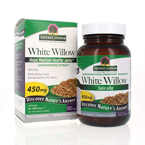Nature's Answer White Willow Bark Vegetarian Capsules, 60-Count by Nature's Answer