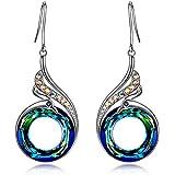 Nirvana Of The Phoenix Earrings, Original Design Symbolizes Luck And Renewal, Swarovski Crystals, Elegant Gift Box