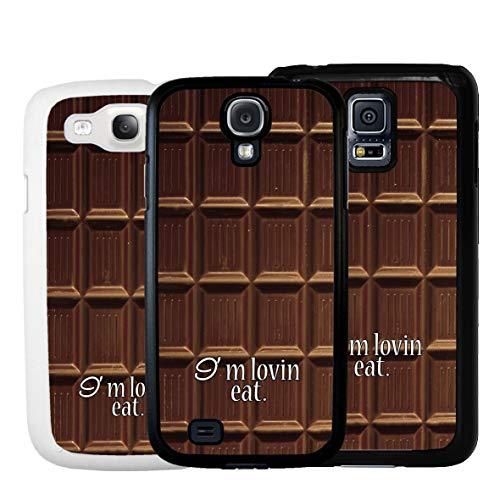 Geketto Store Cover Tavoletta Cioccolato Per Samsung, Samsung Galaxy S6 Edge, Bianco