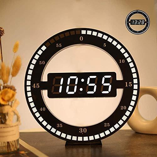 Mohan Digitale Wanduhr, LED Tisch Digitale Uhr Dual-Verwendung Dimmen Elektronische Uhr Rund Photoreceptive Uhren Große Runde Wanduhr