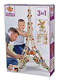 Eichhorn- Eiffelturm Constructor Torre Eiffel, 3 Modelos posibles, 315 Piezas, Madera de Haya certificada FSC, Fabricado en Alemania, Color carbón (Simba 100039091)