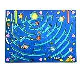 HappyToy Labirinto di Legno Magnetico Puzzle interattivo Labirinto Magnete Perle Labirinto a Bordo di Gioco educativo eduactional Handcraft Puzzle Giocattoli (I Nove Pianeti)