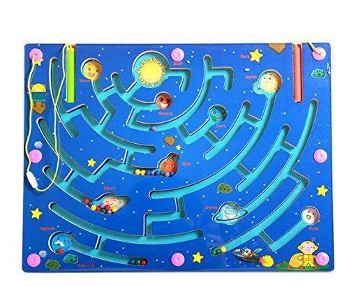 HappyToy Labirinto di Legno Magnetico Puzzle interattivo Labirinto Magnete Perle Labirinto a Bordo di Gioco educativo eduactional Handcraft Puzzle Gio