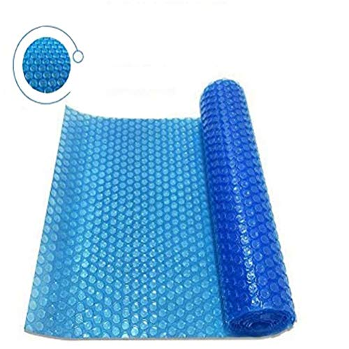 labworkauto Solar Pool Cover Round, Oval Rectangle Swimming Pool Solar Blanket Cover PE Blue 12mil