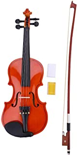 1/8 Solid Wood Satin Antique Violin with Hard Case, Shoulder Rest, Bow, Rosin and Extra Strings