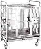 Jaula dpájaros duradera y ecológica, Loro jaula pájaro jaula de acero inoxidable grande loro jaula ligero pájaro cría jaula suministros mascotas cuidado de aves de corral Jaula para pájaros Parrotlet