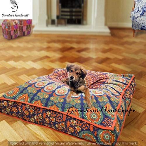 Indian Bohemian tapestry, square meditation cushion, boho floor cushion, handmade pillow insert, boho seating pouffe ottoman, indian pillow shams, boho mandala dog bed bohemian mandala floor pillow