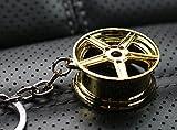 boost-key.com Felge Gold-Chrom #77 Schlüsselanhänger - massiver Anhänger - von VmG-Store OEM VAG Dub