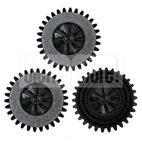 3 Rundbürsten für Bohnermaschine Pulilux Kobold 515