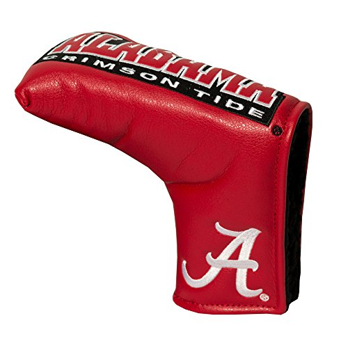 Team Golf NCAA Alabama Crimson Tide Golf Club Vintage Blade Putter Headcover, Form Fitting Design, Fits Scotty Cameron, Taylormade, Odyssey, Titleist, Ping, Callaway,Red