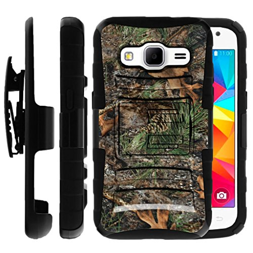 Untouchble Case for Samsung Galaxy Core Prime Case | Samsung Prevail LTE Holster Case [Heavy Duty Clip]- Shockproof Swivel Holster Case with Built in Kickstand - Tree Camo Branch