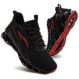TIAMOU Running Shoes Women Walking Non Slip Athletic Tennis Blade Type Sneakers Black