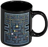 PTCM Tazza animata termosensibile con effetto termico 'Labyrinth' - caffè, tè, cacao, latte, acqua, ecc (Pac-Man)