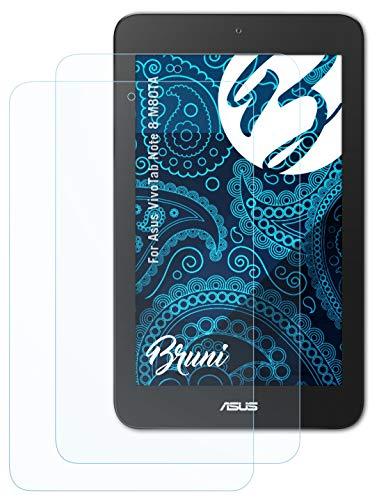 Bruni Schutzfolie kompatibel mit Asus VivoTab Note 8 M80TA Folie, glasklare Bildschirmschutzfolie (2X)