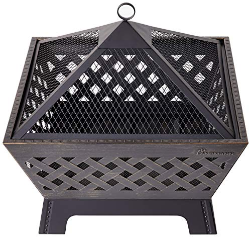 Landmann 25282 Barrone Fire Pit, 26&quot, Antique Bronze
