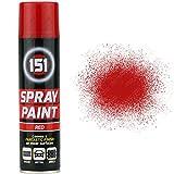 1x 250ml 151Rot Glanz Aerosol Paint Spray Cars Holz Metall Wänden Graffiti