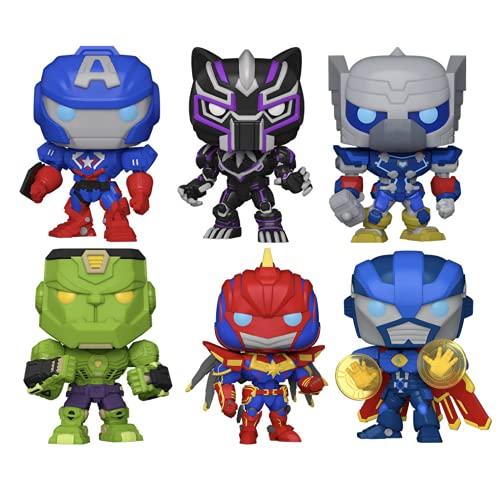 Funko Pop! Marvel: Avengers Mech Strike Figuras coleccionables de vinilo, 9,5 cm...