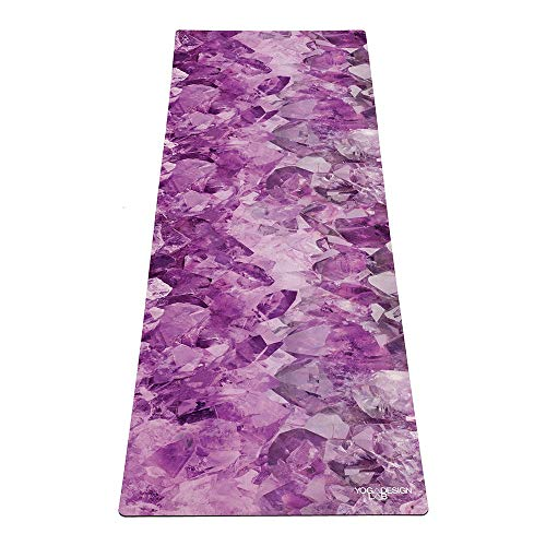 Yoga Design Lab | DE COMBO YOGA MAT | 2-in-1 Mat+Handdoek | Eco Ontworpen in Bali | Ideaal voor Hot Yoga, Macht, Bikram, Ashtanga, Sweat | Studio Kwaliteit | Inclusief draagband