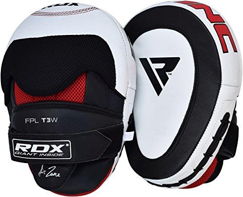 RDX Manoplas Boxeo Cuero Vacuno Paos Kick Boxing Muay Thai Artes Marciales Patada Pad Entrenamiento