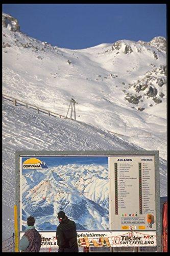 418067 Ski Map Directions A4 Foto Poster Print 10 x 8