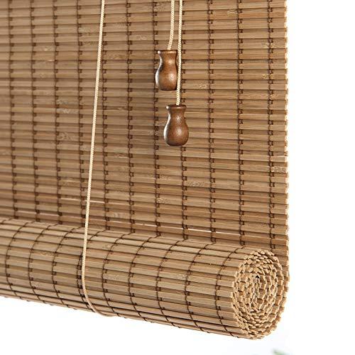 Lqdp Estores Enrollables Persianas de Ventana de Estilo Japonés - 95%, Cortina Opaca de Bambú para Interiores para Pérgola de Cenador, 70cm/ 90cm/ 110cm/ 130cm de Ancho