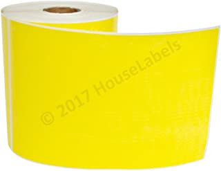 """Zebra/Eltron Compatible- 4 x 6 Labels (4"""" x 6"""") Yellow Direct Thermal Labels - Two (2) Rolls- 250 Labels per Roll - BPA Free !"""
