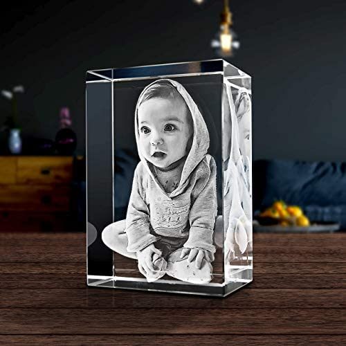 ArtPix 3D Custom Laser Engraved Crystal Rectangle Medium Portrait Orientation Personalized Gifts product image