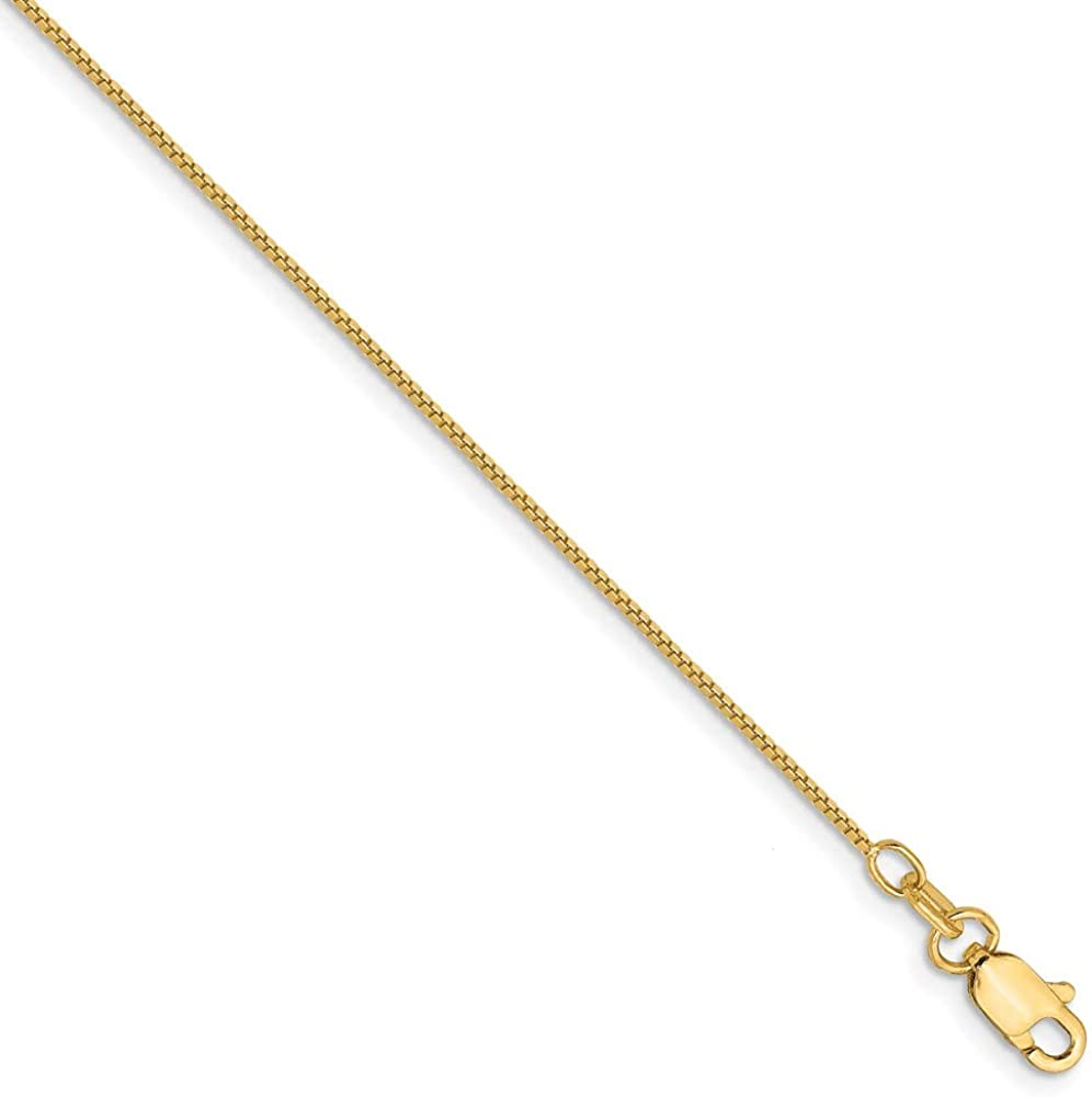 Solid 14k Yellow Gold Tampa Mall .7mm Necklace Chain Alternative dealer Box