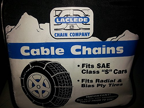"Laclede Cable Tire Snow Chain 1014 SAE Class ""S"" cars Radial Bias Ply Tires"