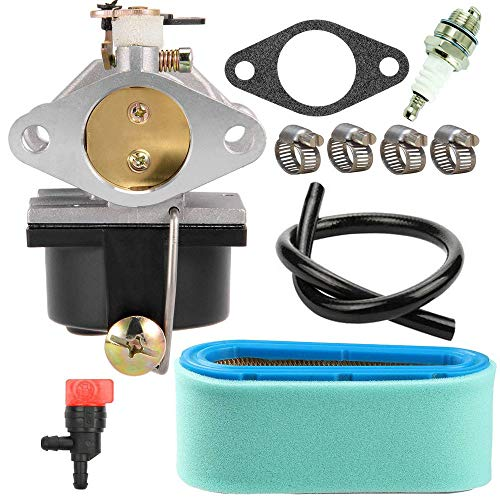 TOPEMAI 640065A Carburetor for Tecumseh OV358EA OHV135 OHV125 OHV130 Engine Replace 13153 640065 with 36356 Air Filter