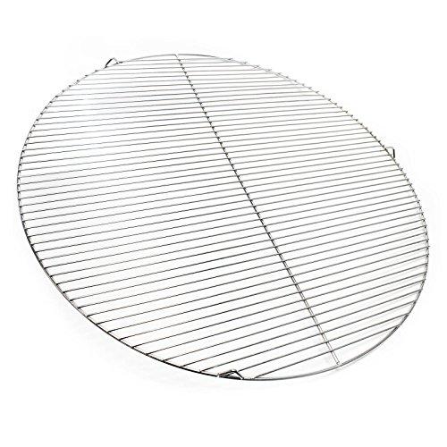 Wiltec Edelstahl Grillrost rund 80 cm rostfrei für Holzkohlegrill, Gasgrill, Schwenkgrill