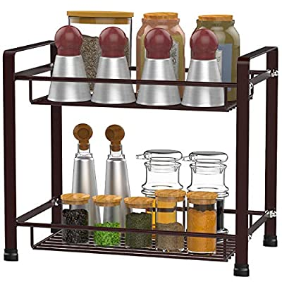 Spice Rack, GSlife 2-Tier Spice Shelf for Count...