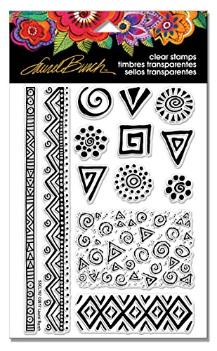 Stampendous SSCL107 Laurel Burch Clear Stamp Set, Icons