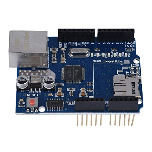 Socobeta Portable Multifunction Ethernet Shield Wear Resistant Durable Ethernet Lan Shield Module Expansion Board W5100 Network Compatible with Arduino Motherboard