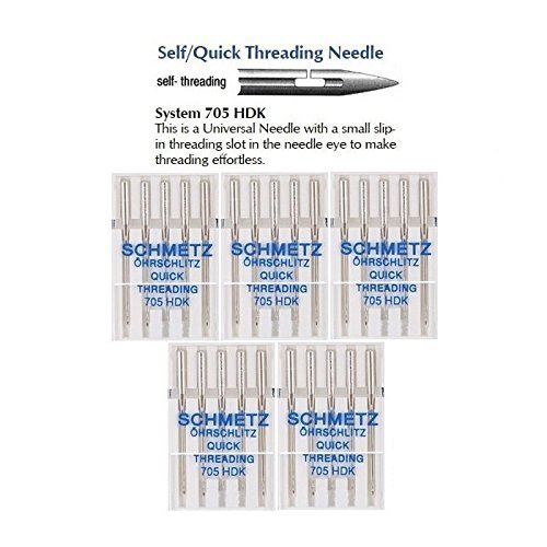 25 Schmetz Quick Threading Universal Sewing Machine Needles 705 HDK Size 90/14