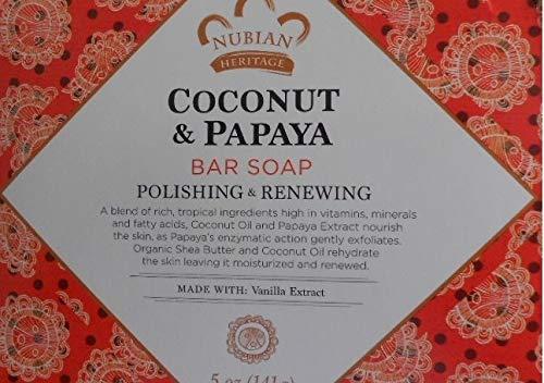 PACK OF 8 - Nubian Heritage Coconut & Papaya Bar Soap, 5.0 OZ