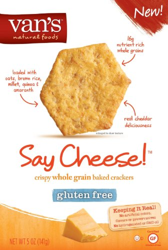Van's Crackers, Say Cheese, Gluten-Free 5 oz. (Pack of 6)