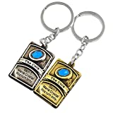 Hearthstone Card Package Keychain, The Coin Keychain Hearthstone Derivative 2PCS Gold & Silver (The Coin)