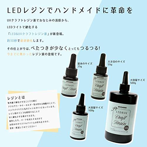 KIYOHARACraftGalleryLED&UVクラフトレジン液55gLEDR55