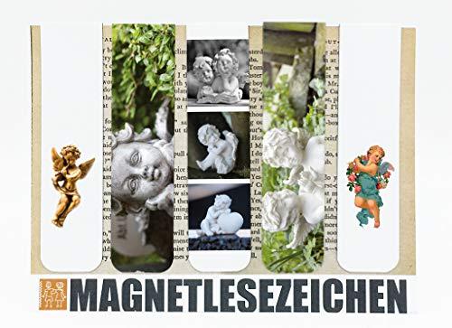 Lesezeichen Magnetisch Schutzengel Geschenke Magnetische Lesezeichen 5 Stück 10 x 2,5 cm Schule Page Seiten Marker Book Marks Mitgebsel Engelsfiguren Engelskinder Engelstrompete