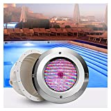 ASPZQ Luces LED Estanques Bajo Agua Luz de Piscina PAR56 AC12V Decoración Fiesta En El Jardín Luces Subacuáticas RGB/Blanco Cálido/Frío (Color : RGB, Size : 18W)