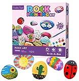 *Tanku *Toys Kit de Pintura de Roca per a Nens i Nenes , Joc de Joguines Educatives | Joguina de Manualitats per a Aprendre Colors i Com Pintar, Regal d'Aniversari Perfecte o Regal