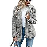 ZFQQ Otoño e Invierno Mujer Abrigo botón Solapa Suelta Cordero suéter cárdigan suéter