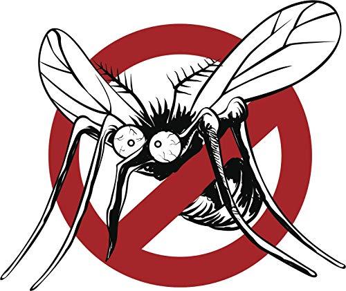 EW Designs Funny Silly Anti-Mosquito Cartoon Icon Vinyl Decal Bumper Sticker (4' Wide)