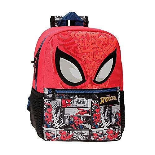 Marvel Spiderman Comic Mochila Escolar Rojo 25x32x12 cms Poliéster 9,6L