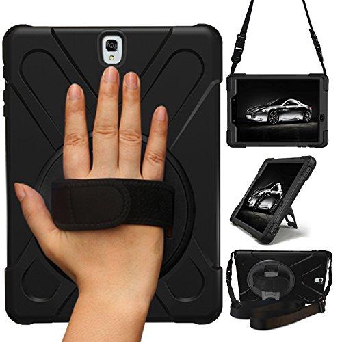 STLDM - Funda para Samsung Galaxy Tab S3 de 9,7 Pulgadas (Resistente a los Golpes, 3 Capas, Resistente a los Impactos) Negro Negro