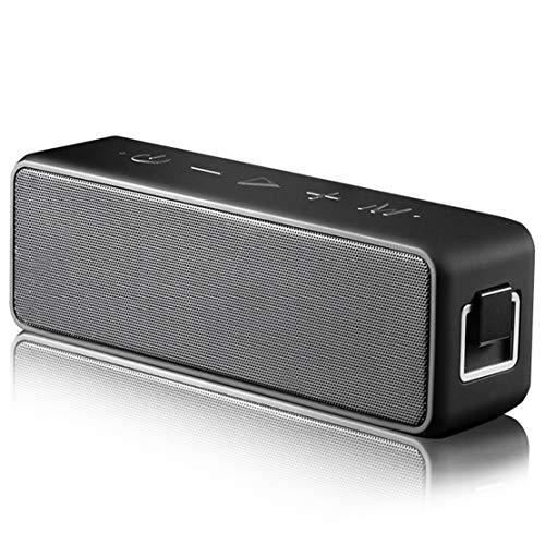 HIOD Bocina Bluetooth Altavoz Inalámbrico Alcance Bluetooth 33 Pies Mini Altavoz Estéreo Ultra Portátil con Micrófono de Reducción de Ruido/Tecnología TWS Colocarse Tarjeta TF/AUX