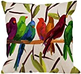 LongTrade Funda de Almohada Bird Pillow Case, Lots of Colorful Magpie and...